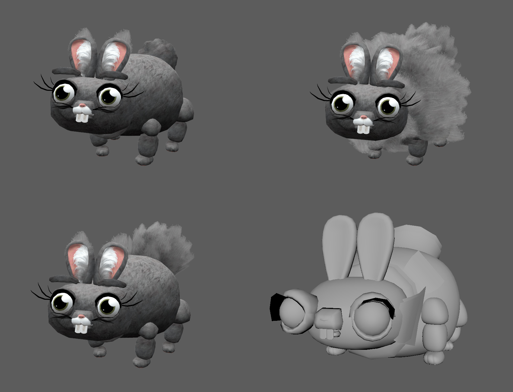 Concept art and early model. Don't let the cuteness fool you.